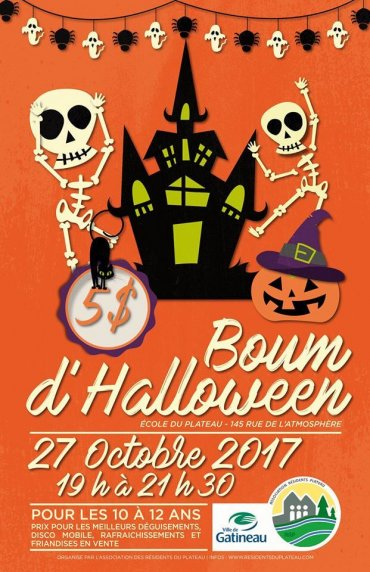 BOUM de l'Halloween au gym Des Deux-Ruisseaux