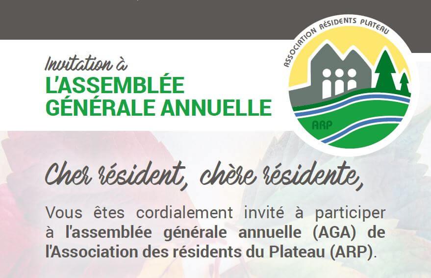 Reporté: Invitation à l'assemblée générale annuelle de l'ARP