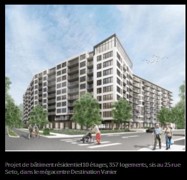 Mémoire de l'ARP – Projet d'édifice résidentiel de 10 étages, 357 logements