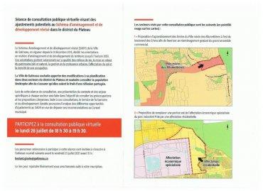 Changements proposés au Schéma d'aménagement et de développement révisé (2015)pour le Plateau : consultation du 26 juillet 2021